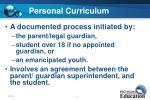 personal curriculum14
