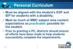 personal curriculum15