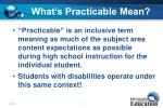 what s practicable mean