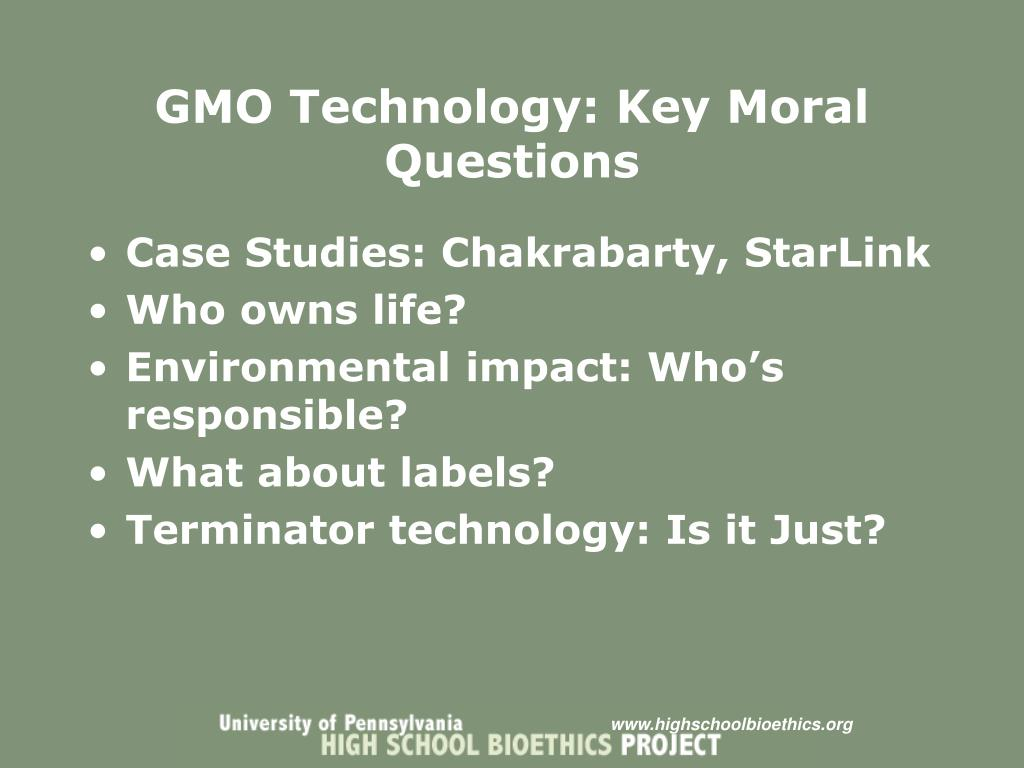 GMO Technology: Key Moral Questions