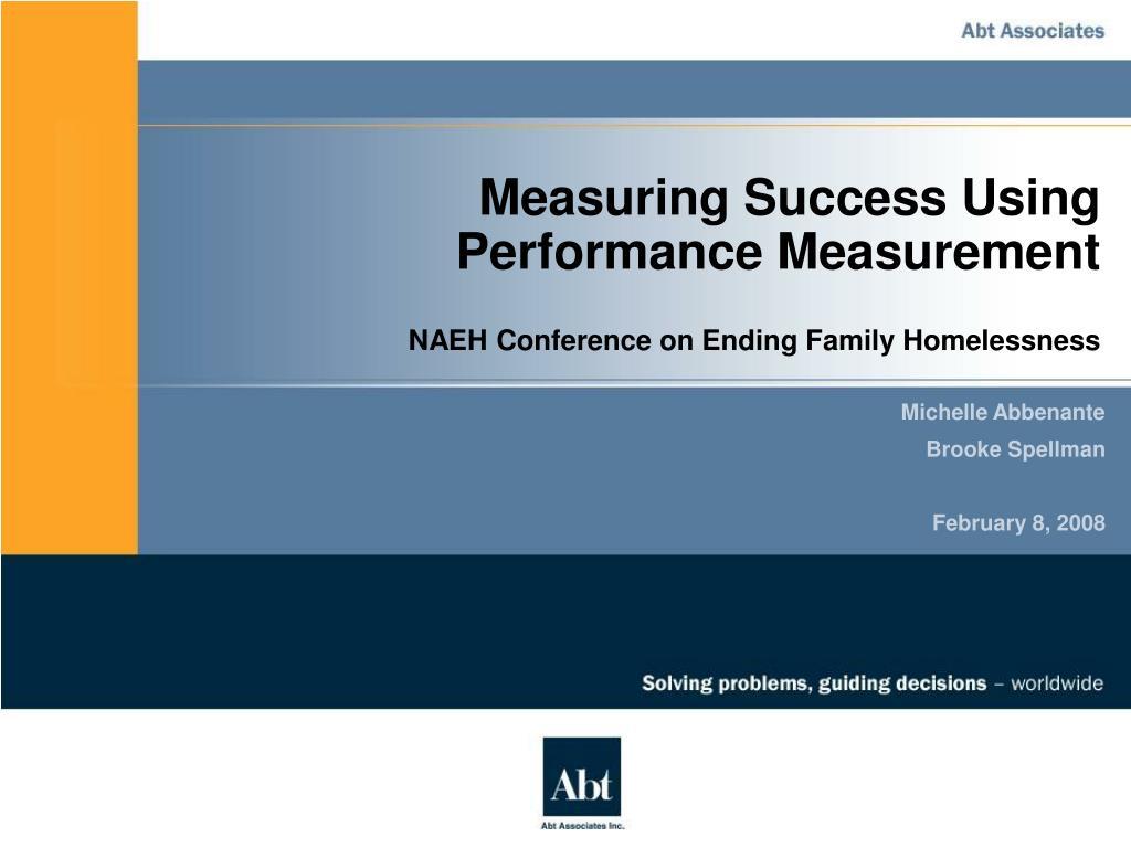 measuring success using performance measurement