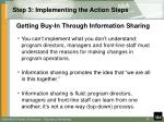 step 3 implementing the action steps