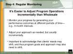 step 4 regular monitoring