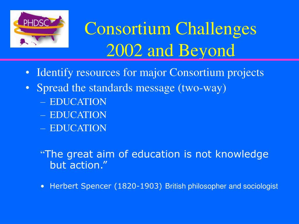 Consortium Challenges 2002 and Beyond