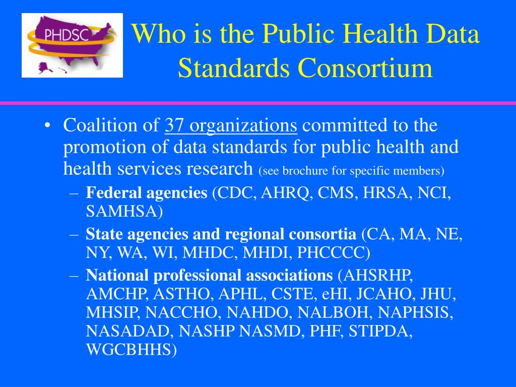Who is the Public Health Data Standards Consortium