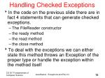 handling checked exceptions
