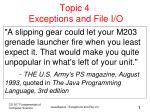 topic 4 exceptions and file i o