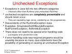 unchecked exceptions