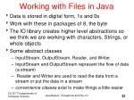 working with files in java