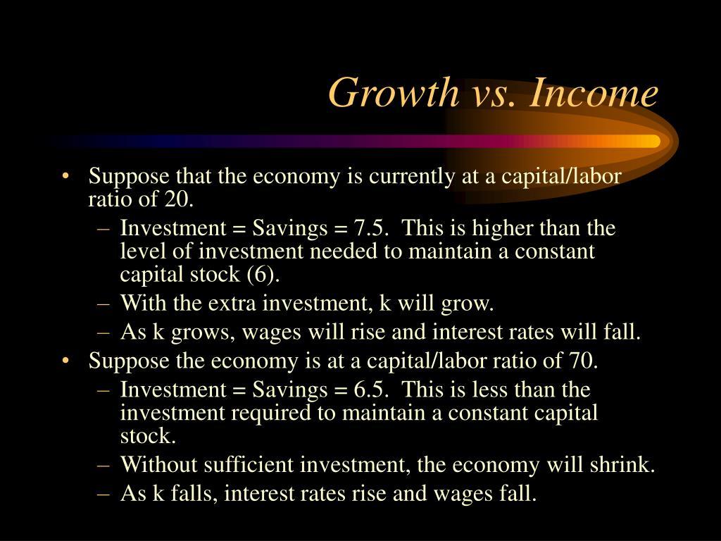 Growth vs. Income