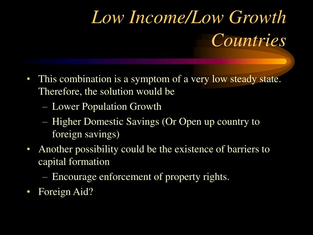 Low Income/Low Growth Countries