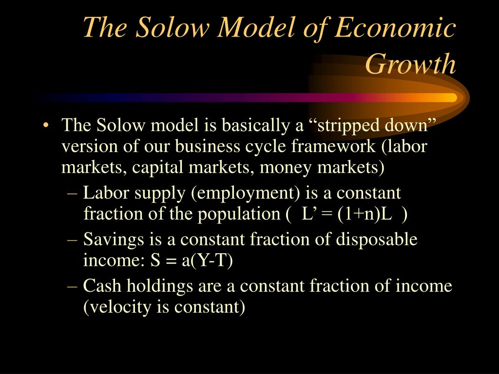 The Solow Model of Economic Growth