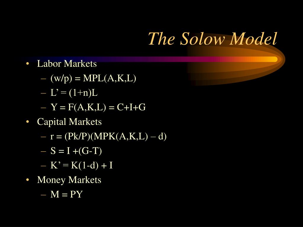 The Solow Model
