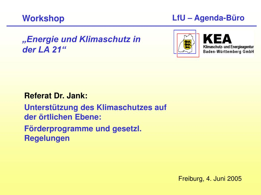 workshop energie und klimaschutz in der la 21 l.
