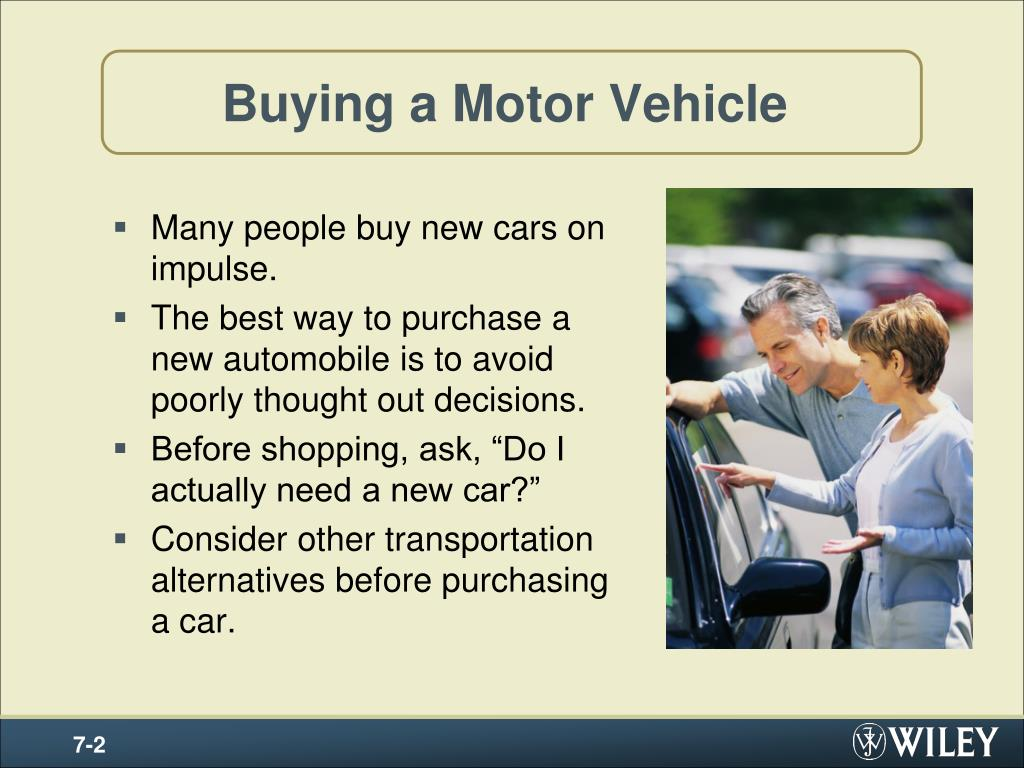 buying a motor vehicle l.