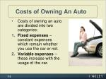 costs of owning an auto