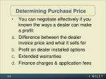 determining purchase price