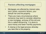 factors affecting mortgages