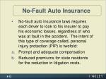 no fault auto insurance