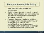 personal automobile policy
