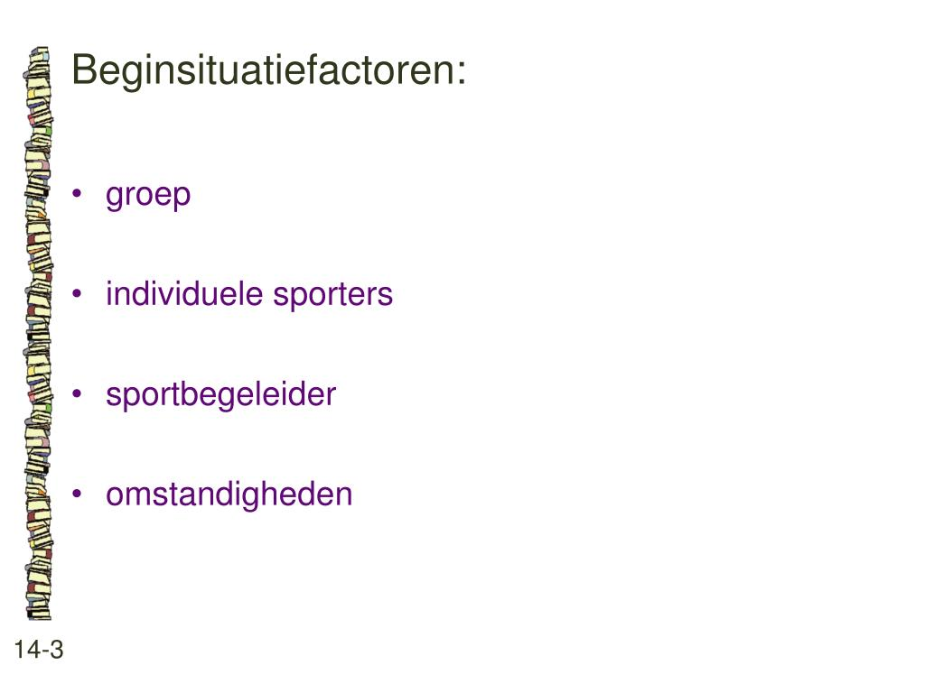 Beginsituatiefactoren: