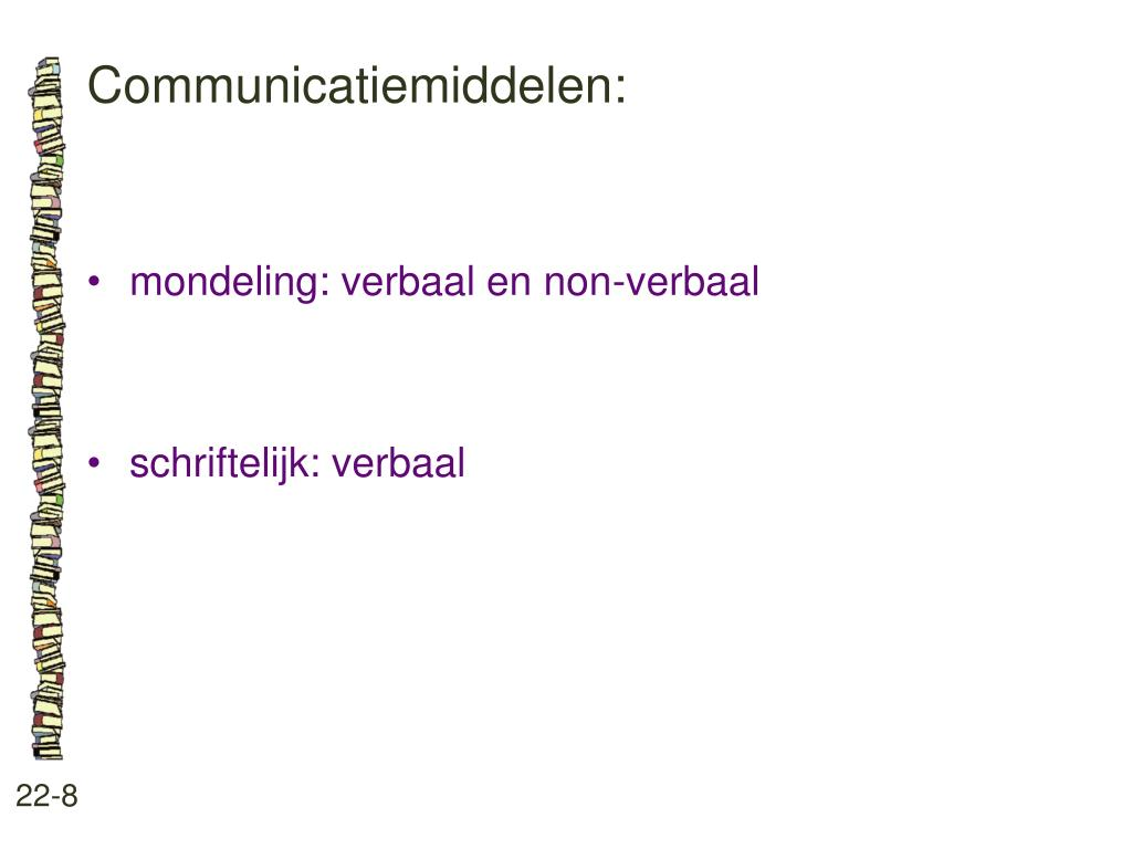 Communicatiemiddelen:
