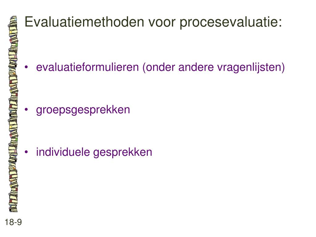 Evaluatiemethoden voor procesevaluatie:
