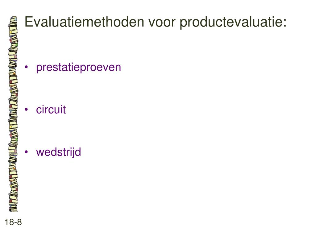 Evaluatiemethoden voor productevaluatie: