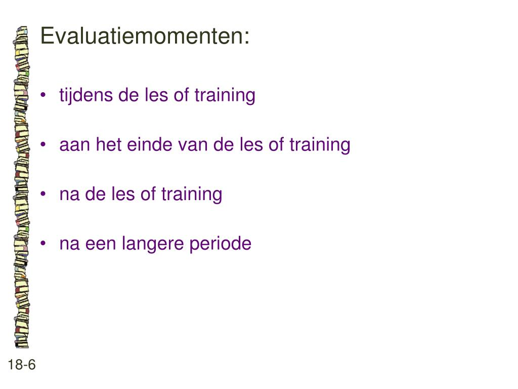 Evaluatiemomenten: