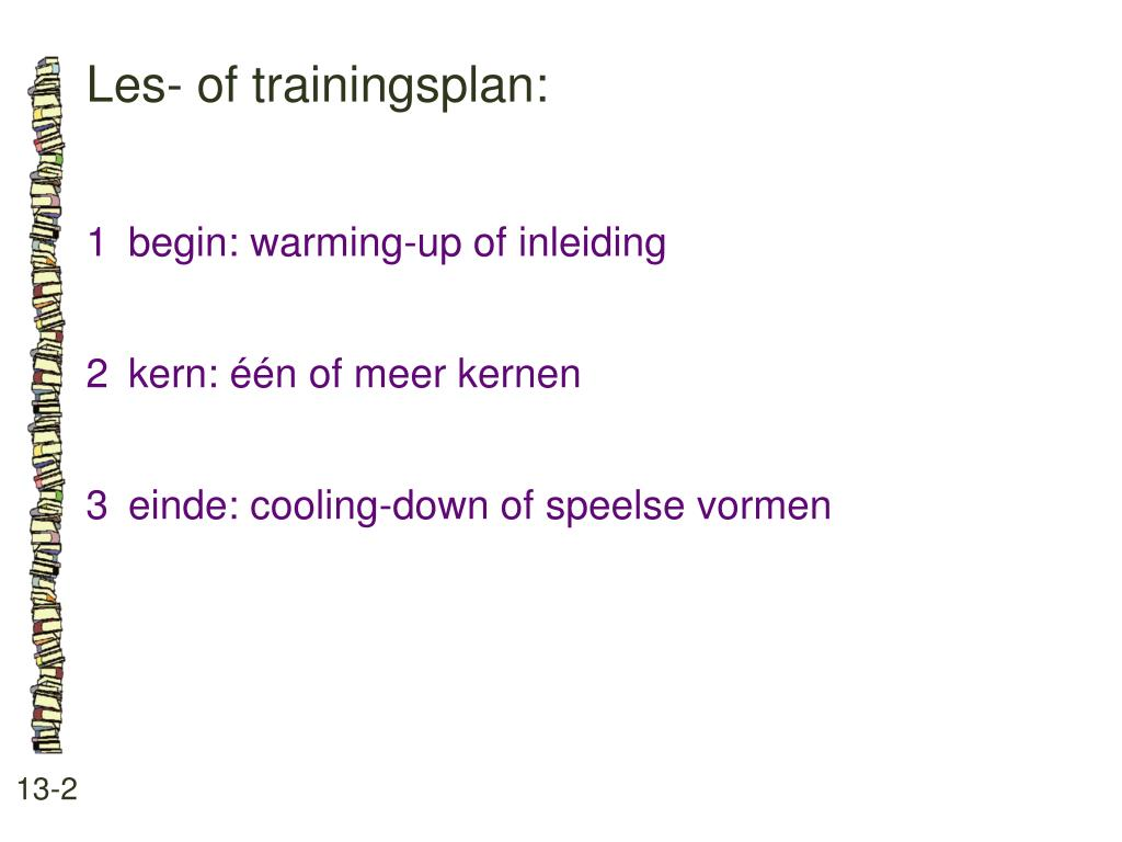 Les- of trainingsplan: