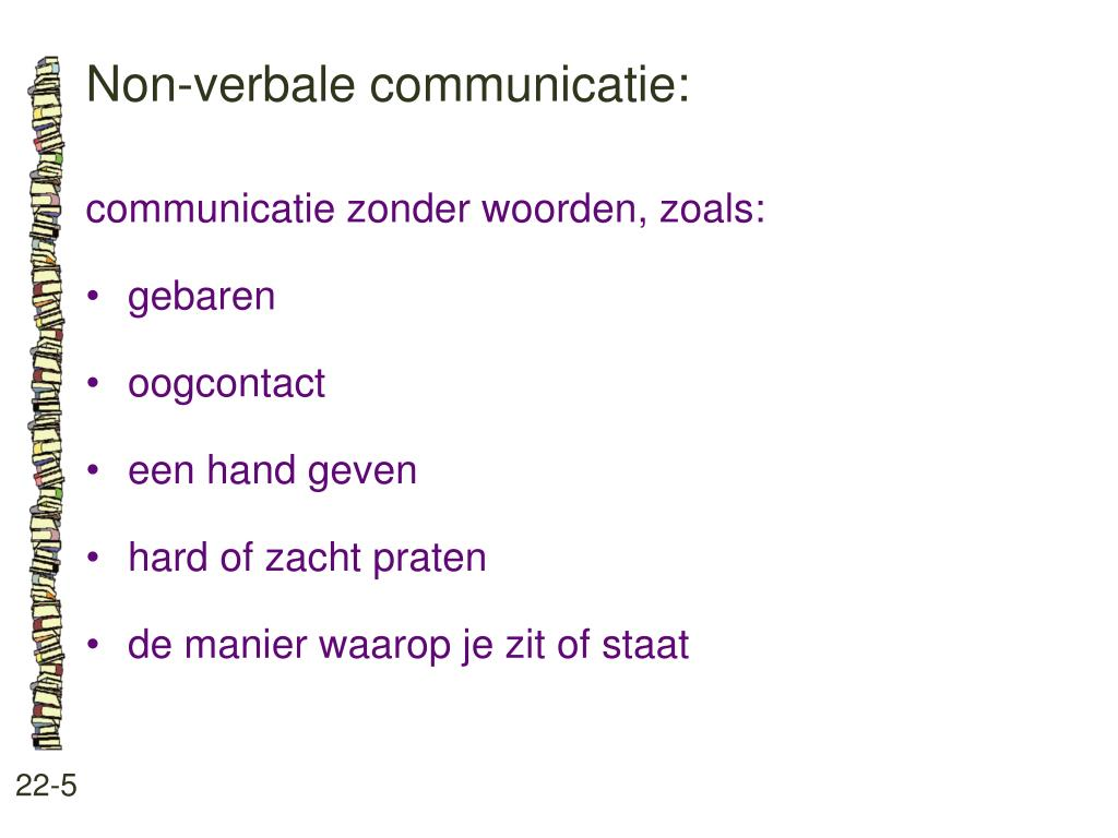 Non-verbale communicatie: