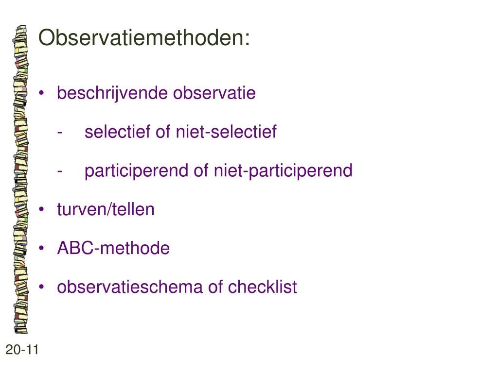 Observatiemethoden: