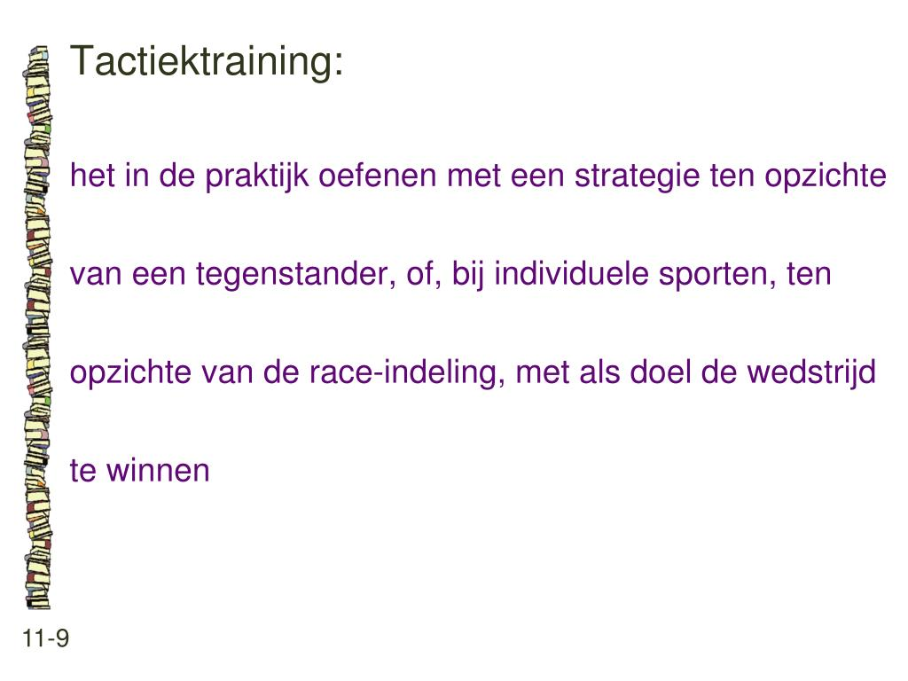 Tactiektraining: