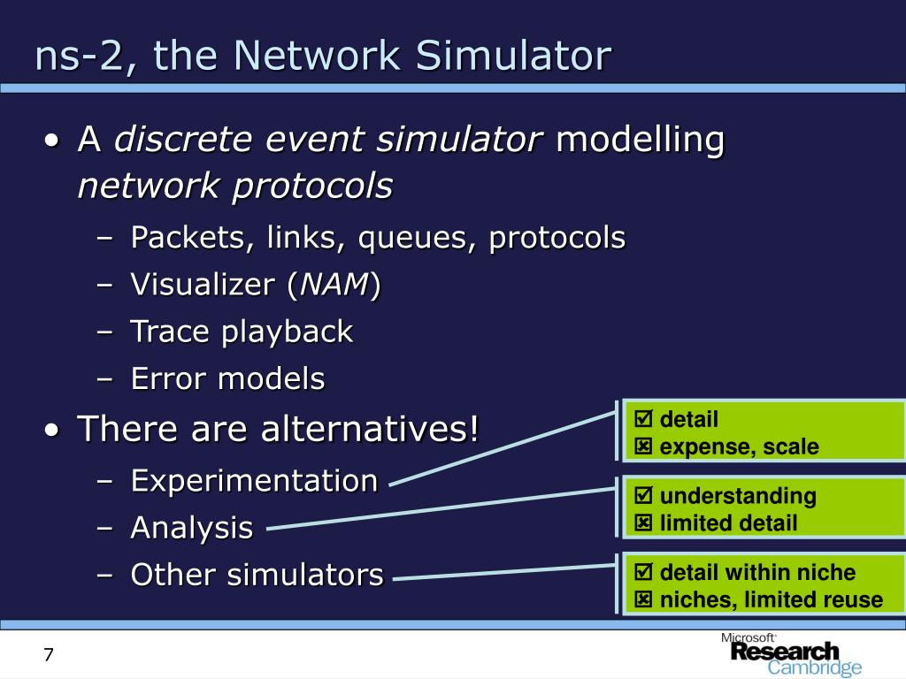 ns-2, the Network Simulator