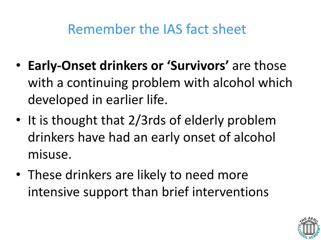 Remember the IAS fact sheet