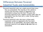 differences between powered industrial trucks and automobiles27