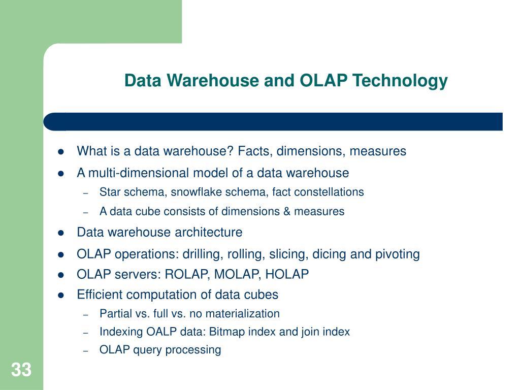 Data Warehouse and OLAP Technology