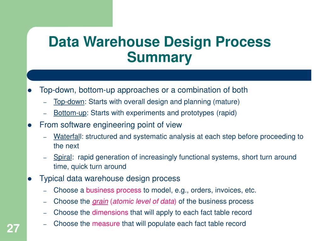 PPT - CIS *717 2 Data Warehouse Design Week 2 PowerPoint