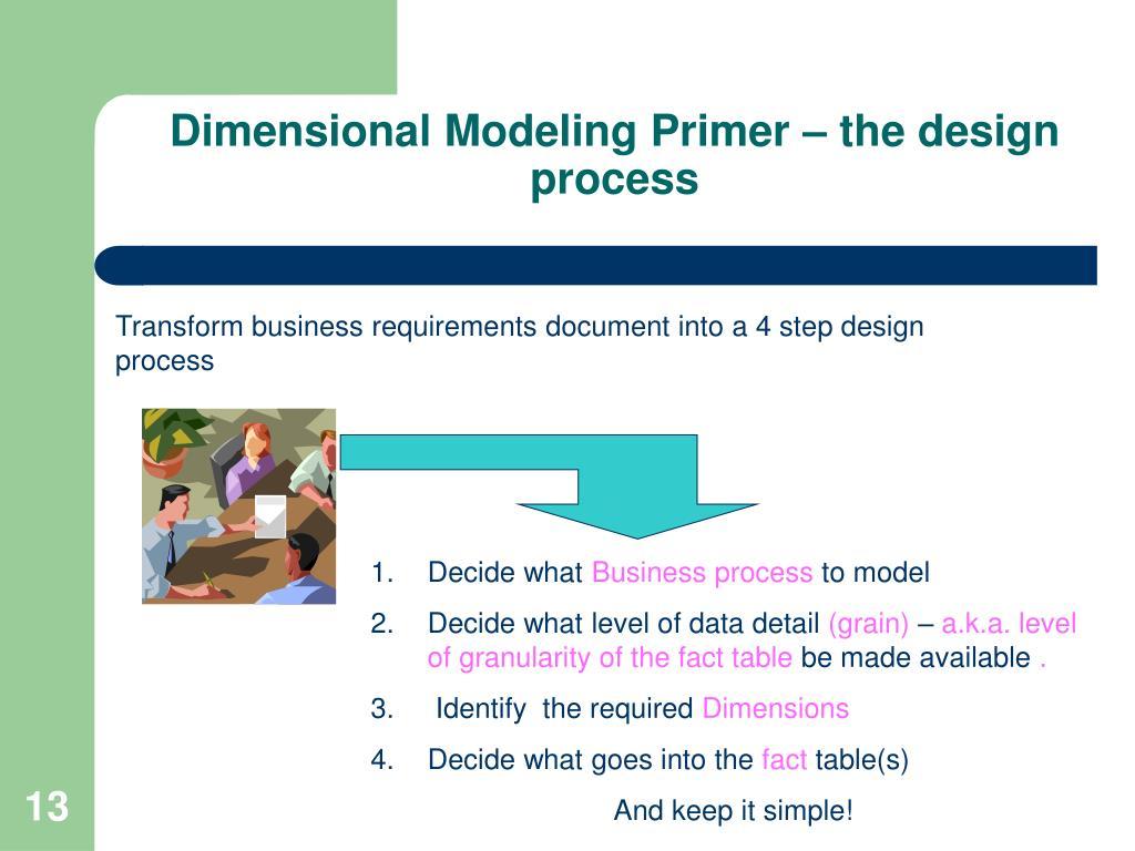 Dimensional Modeling Primer – the design process