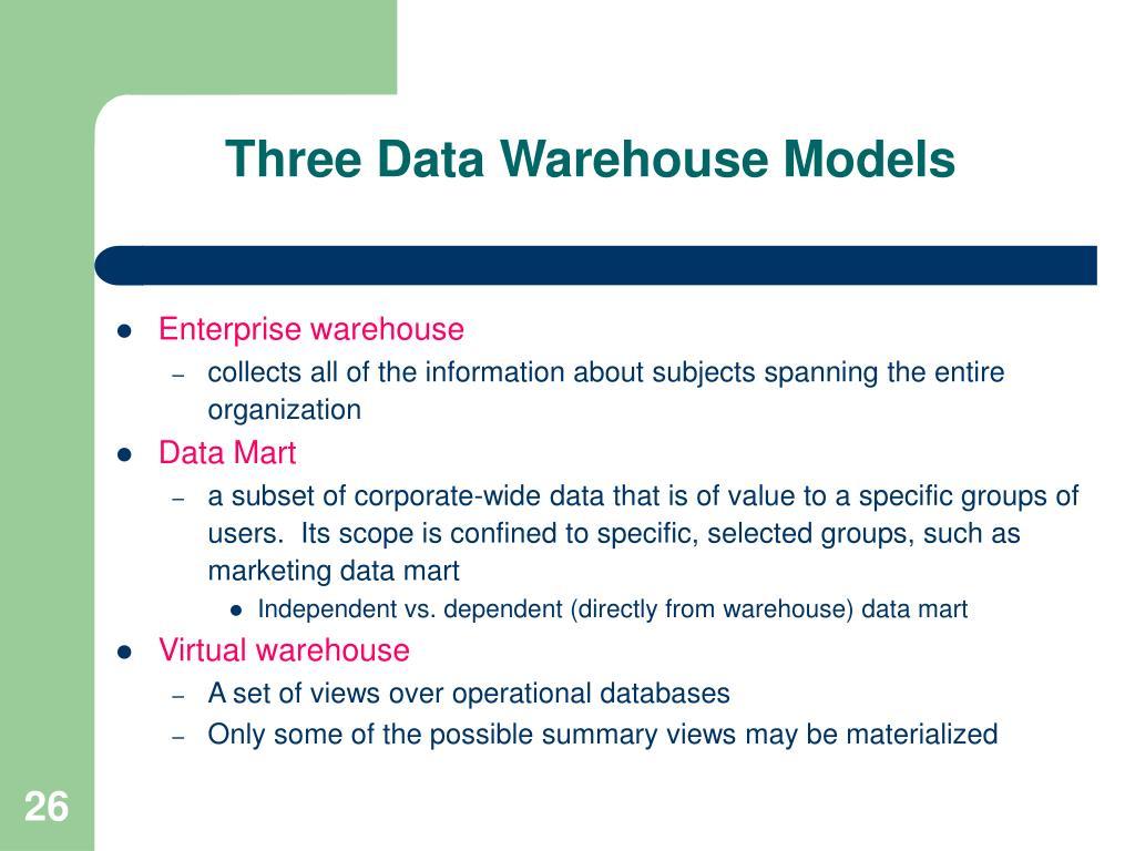 Three Data Warehouse Models