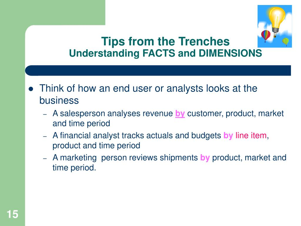 Tips from the Trenches