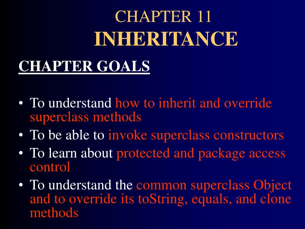 chapter 11 inheritance l.