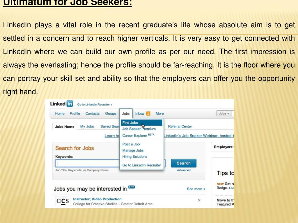 Ultimatum for Job Seekers: