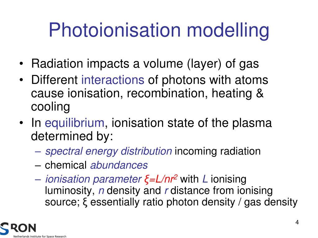 Photoionisation modelling