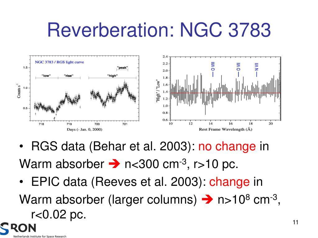 Reverberation: NGC 3783