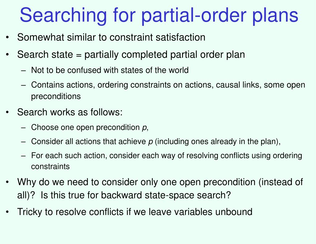Searching for partial-order plans
