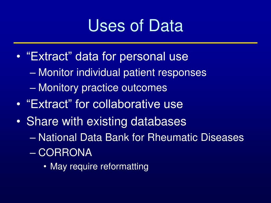 Uses of Data