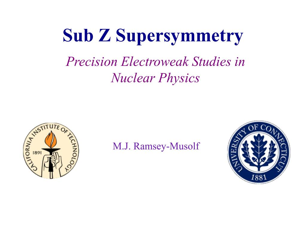sub z supersymmetry l.