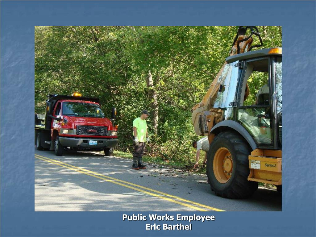 Public Works Employee Eric Barthel
