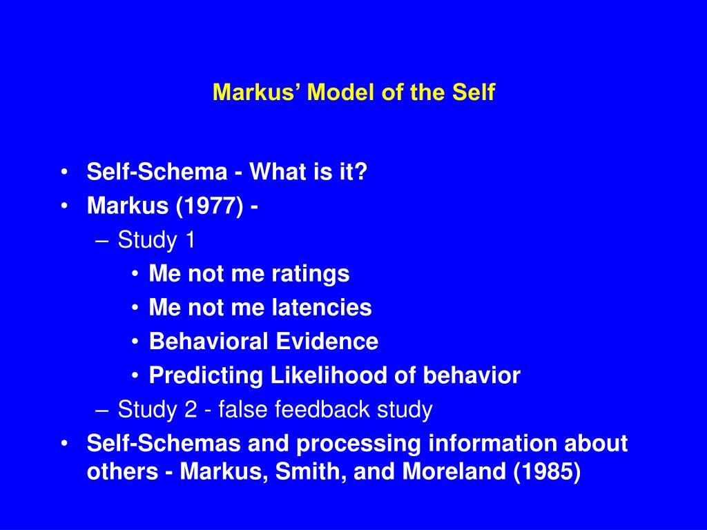 markus model of the self l.